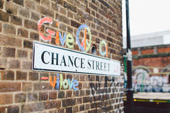 London Street Art. Street art around Shoreditch in the East End of London England Stock Photo