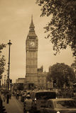 London street, Big Ben Retro style Stock Photos