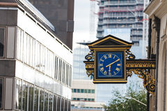 London street clock Royalty Free Stock Images