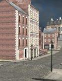 London street, 3D CG Royalty Free Stock Image