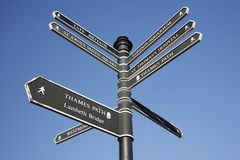 London Street Direction Sign Post Stock Photo