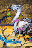 London street graffiti of birds Royalty Free Stock Images