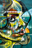 London street graffiti of woman's face Royalty Free Stock Photography