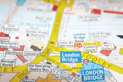 London street map Royalty Free Stock Image