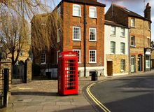 London street and phone box Stock Image