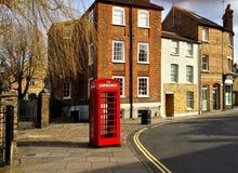 London street and phone box Stock Image