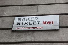 London Street Sign, Baker street Royalty Free Stock Image