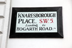London Street Sign, Hogarth Road, Knaresborough Place Stock Photo