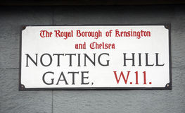 London Street Sign, NOTTING HILL GATE Stock Image