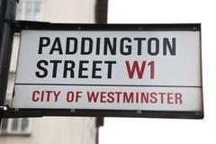 London Street Sign, Paddington street Royalty Free Stock Photography