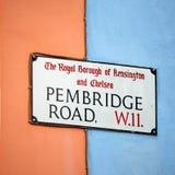 London Street Sign, PEMBRIDGE ROAD Royalty Free Stock Photos