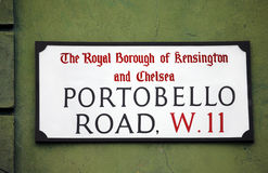 London Street Sign, Portobello Road Royalty Free Stock Image