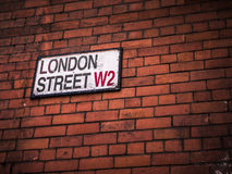 London Street Sign Stock Photography