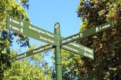 London street signpost Stock Photos