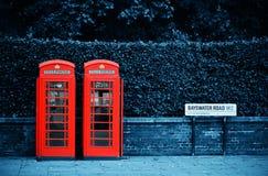 London street. Telephone box in London street Stock Image