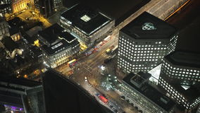 London street traffic from above. LONDON, ENGLAND stock video