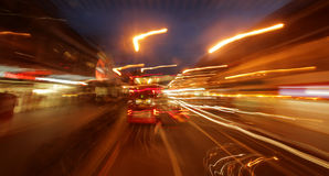 London streets at night Royalty Free Stock Photo