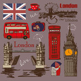 London style design set. Stock Photos