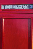London style Telephone Box Royalty Free Stock Photo