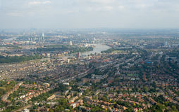 London suburbs panorama royalty free stock photos
