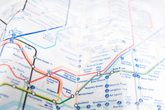 London subway map Stock Images