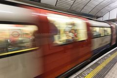 London subway motion Royalty Free Stock Photos