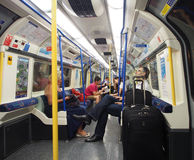 London subway train Stock Photography
