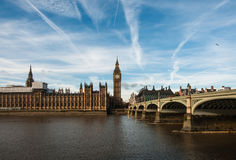 London in a sunny autumn day stock photo