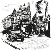 London. In the sunny day stock illustration