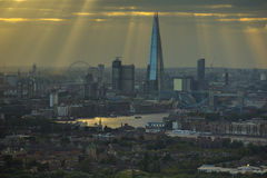 London sunrays Royalty Free Stock Photo