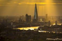 London sunrays Stock Photo