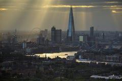 London sunrays Royalty Free Stock Photography