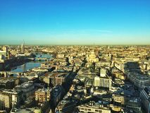 London on sunrise. View of London city spotted on sunrise from Sky Gardens rooftop Stock Photos