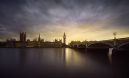 London sunset Royalty Free Stock Photo