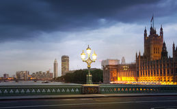 London sunset. Big Ben, houses of Parliament Royalty Free Stock Photo