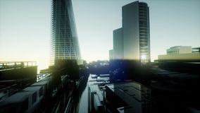 London sunset landscape stock illustration