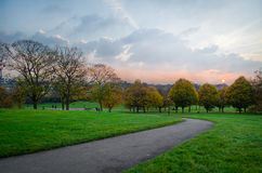 London, sunset from Primrose Hill Stock Images