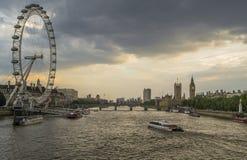 London at sunset Royalty Free Stock Photos