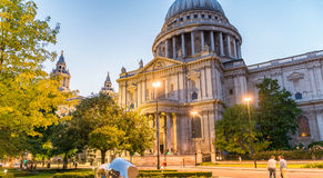 London at sunset. St Paul Cathedral Dome Royalty Free Stock Images