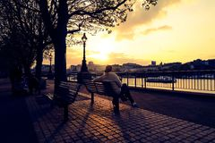 London Sunset At Thames Royalty Free Stock Photos