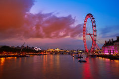 London sunset at Thames river near Big Ben Royalty Free Stock Image