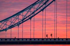 London, sunset on Tower Bridge Stock Image