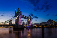London. Sunset in London Tower Bridge Thames River Stock Photo
