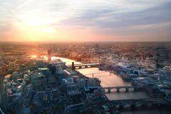 London sunset view from the Shard. Royalty Free Stock Photo