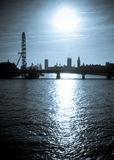 london sylwetka Zdjęcia Royalty Free