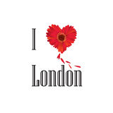 London symbol. I love London flower concept  sign over whi Royalty Free Stock Image