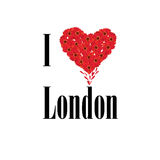 London symbol. I love London flower concept Royalty Free Stock Photos