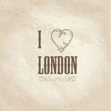 London symbol. I love London  sign. Stock Images