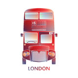 London symbol  -  Red bus icon – Colorful  graphics - Modern Stock Photos