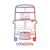 London symbol  -  Red bus icon – Colorful  and linear graphics Royalty Free Stock Photo